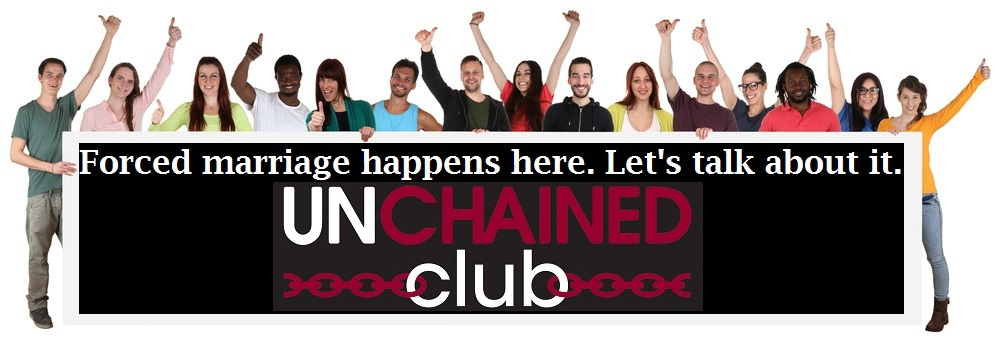 PIC students holding unchained club banner 4
